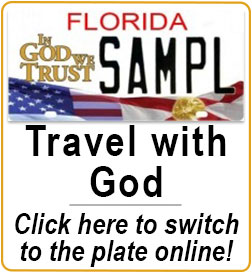 Travel with God Switch into it at your local tag office today!  ingodwetrustfoundation.com