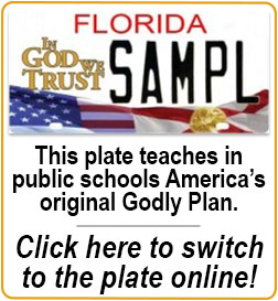 This plate provideseducation for children of military service members